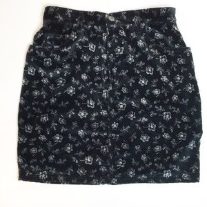 EUC Vintage Guess Velvet High-waist Miniskirt 31